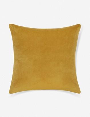 Lulu & Georgia Charlotte Velvet Pillow, Goldenrod