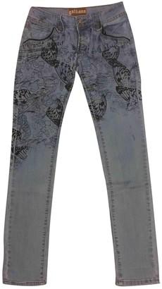 Galliano Blue Cotton - elasthane Jeans for Women