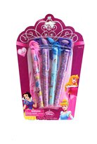 Disney Princess 4 Pack Ball Point Clip Pens with Rope - Childrens Clip Pens w...