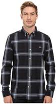 Lacoste L!ve Long Sleeve Cotton Flannel Shirt
