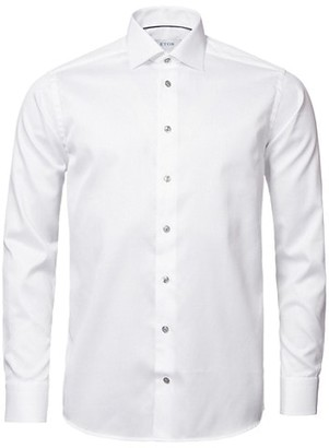 Eton Contemporary-Fit Twill Dress Shirt with Grey Details