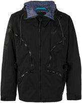 Diesel multiple zips hooded jacket