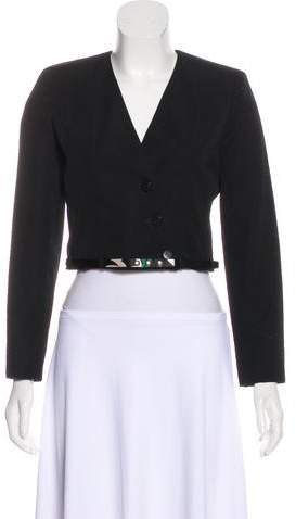 Chanel Cropped Wool Jacket