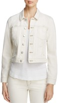 Eileen Fisher Classic Collar Cropped Denim Jacket - 100% Exclusive