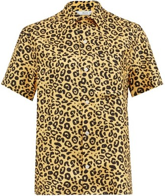 Umit Benan B+ - Chest-pocket Leopard-print Silk Shirt - Womens - Animal