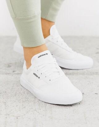 adidas 3MC sneakers in triple white