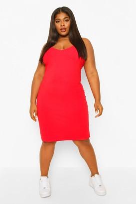 boohoo Plus Strappy Basic Bodycon Dress