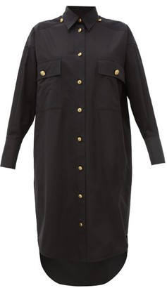 Givenchy Compact Oversized Cotton Shirt Dress - Womens - Black