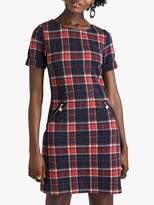 Yumi Zip Pocket Check Tunic, Red