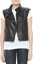 Rag and Bone Leather Zip Moto Vest