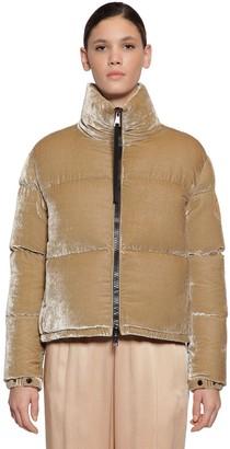 Moncler Rimac Techno Velvet Down Jacket