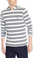 Lacoste Men's Striped Pima Jersey Slim Fit Hooded T-Shirt