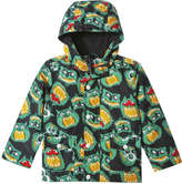 Joe Fresh Toddler Boys' Print Raincoat, Dark Charcoal (Size 5)