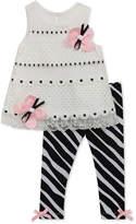 Rare Editions 2-Pc. Tunic and Zebra-Print Leggings Set, Baby Girls