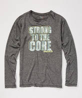 Reebok Heather Shark 'Strong to the Core' Crewneck Tee - Boys