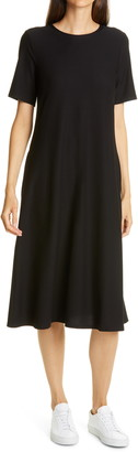 Eileen Fisher Merino Wool Midi Dress