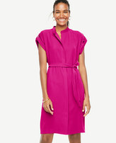 Ann Taylor Belted Short Sleeve Shirtdress