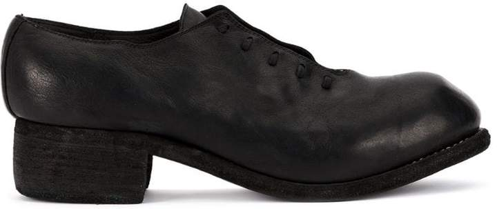 Guidi lace-up round toe shoes