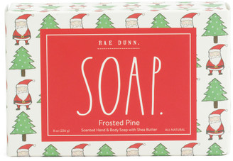 8oz Frosted Pine Soap Bar