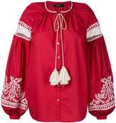 Wandering - contrast tunic - women - Cotton - 40