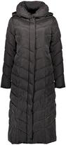 Steve Madden Black Chevron Long Puffer Coat