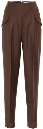 Emilia Wickstead Lacey virgin wool high-rise pants