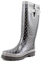 Chooka Classic Dot Women Round Toe Synthetic Black Rain Boot.