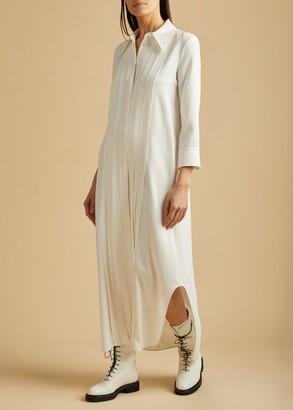 KHAITE The Gabby Dress in Ivory