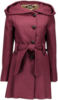 Steve Madden Merlot Wide-Hood Trench Coat - Plus Too