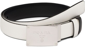 Prada Embossed Logo Reversible Belt