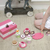 Little Ella James Wooden Toy Pink Tea Party Set
