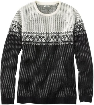 L.L. Bean Women's Classic Cashmere Sweater, Crewneck Fair Isle