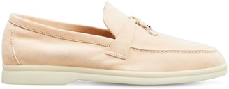Loro Piana 10mm Summer Charms Walk Suede Loafers