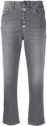 Dondup High Rise Cropped Turn Up Jeans