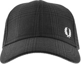 Fred Perry Pow Checked Baseball Cap Black