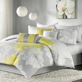 Madison Park Lola Comforter Set Twin - Gray/Yellow
