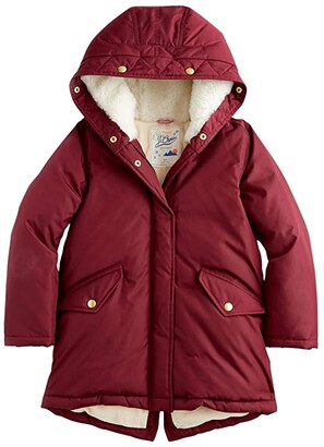 crewcuts by J.Crew Solid Puffer Jacket (Toddler/Little Kids/Big Kids) (Dark Wine) Girl's Clothing