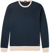 Hugo Boss - Marcelli Slim-fit Contrast-trimmed Cotton Sweater