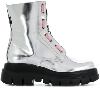 MSGM Metallic Ankle-Length Boots
