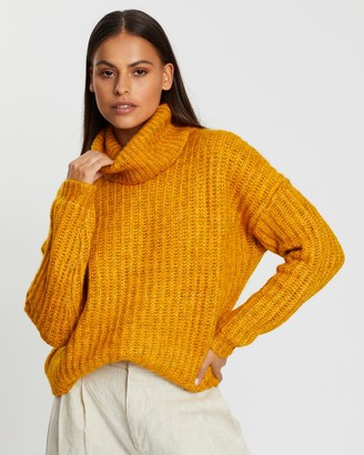 Only Chunky LS Roll Neck Pullover Knit