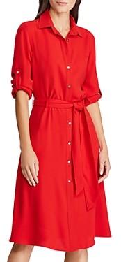 Ralph Lauren Ralph Georgette Belted Shirt Dress