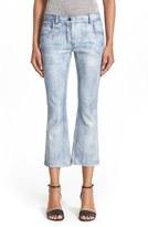Alexander Wang Women's Crop Flare Leather Pants