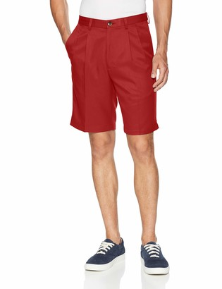 Haggar Men's Cool 18 Gabardine Pleat Front Short