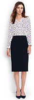 Lands' End Women's Petite Wear to Work Pencil Skirt-Dark Navy