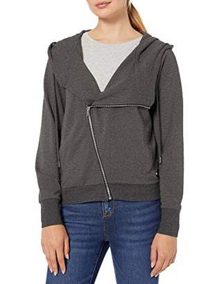 Skinnygirl Women's Plus Size Courtney Moto Hooded Knit Jacket