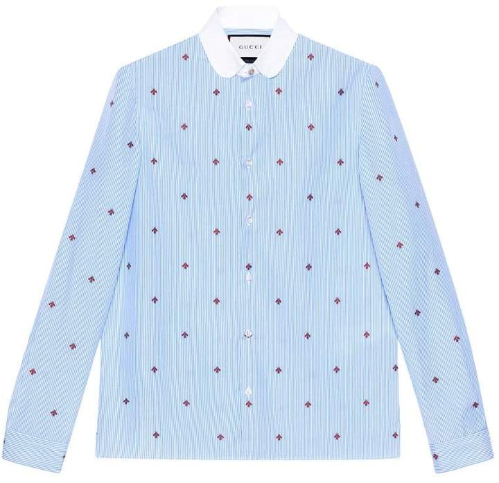Gucci Bee fil coupé Cambridge shirt