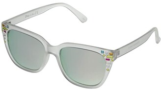 Sam Edelman Cat-Eye Multicolored Stoned Frame (Clear) Fashion Sunglasses