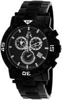 Jivago Titan Mens Black Dial Black Stainless Steel Bracelet Watch
