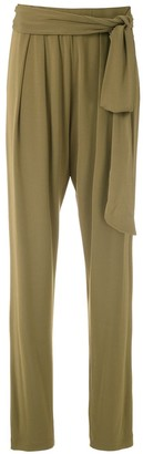 Andrea Marques Drape Tapered Trousers