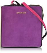 Balmain Pablito Purple Suede Shoulder Bag